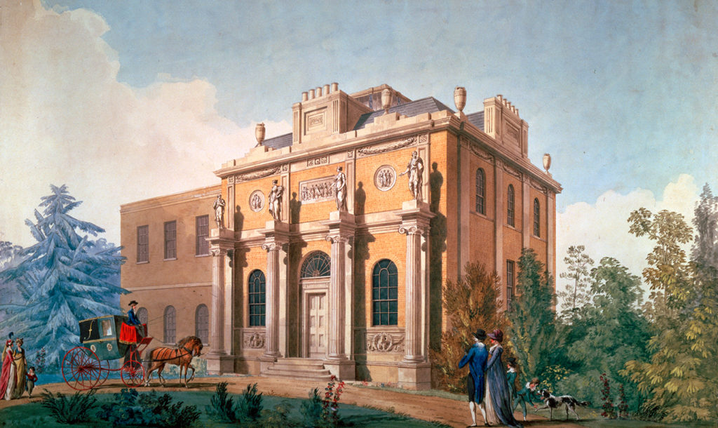 A painting of Pitzhanger Manor, Joseph Gandy, 1800. © Sir John Soane's Museum, London.